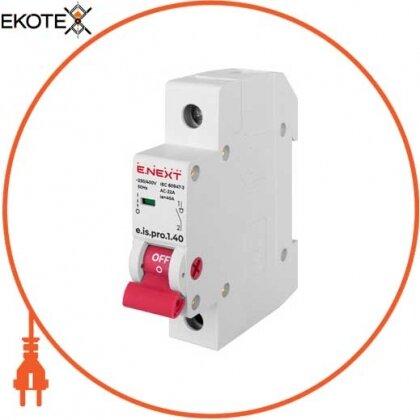 Enext p008017 выключатель нагрузки на din-рейку e.is.1.40, 1р, 40а