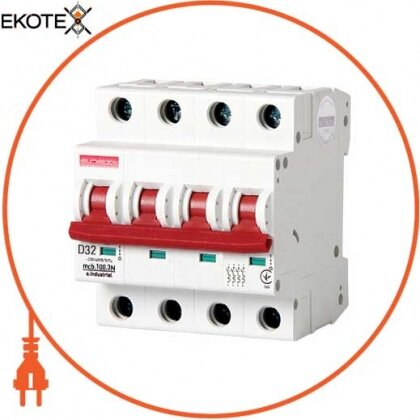 Enext i.0210006 модульный автоматический выключатель e.industrial.mcb.100.3n.d32, 3р + n, 32а, d, 10ка