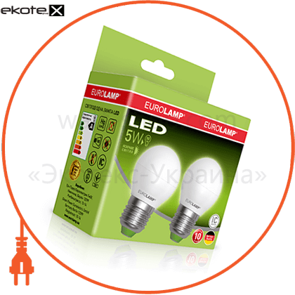 "промо-набор eurolamp led еко g45 5w e27 4000k акция ""1+1"" светодиодные лампы eurolamp Eurolamp MLP-LED-G45-05274(E)"