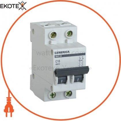 IEK MVA25-2-016-C автоматический выключатель ва47-29 2р 16а 4,5ка с generica