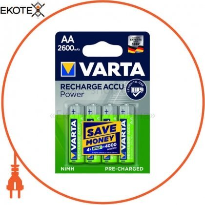 Varta 5716101404 аккумулятор varta prof aa 2600mah 4 шт