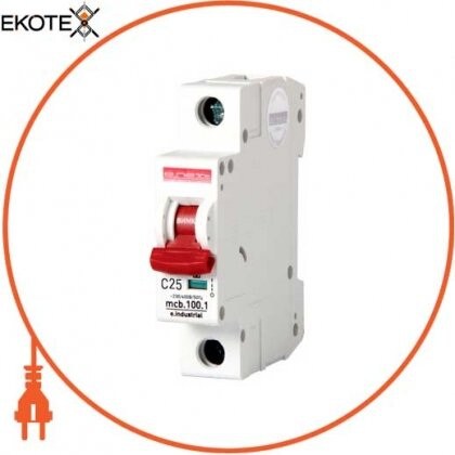 Enext i0180005 модульный автоматический выключатель e.industrial.mcb.100.1.c25, 1 р, 25а, c,  10ка