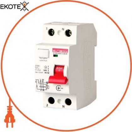 Enext s034001 выключатель дифференциального тока e.rccb.stand.2.25.30 2р, 25а, 30ma