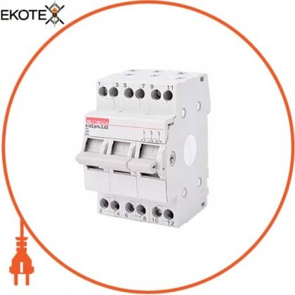 Enext p008015 выключатель на din-рейку на три положения e.is3.pro.3.63, 3р, 63а