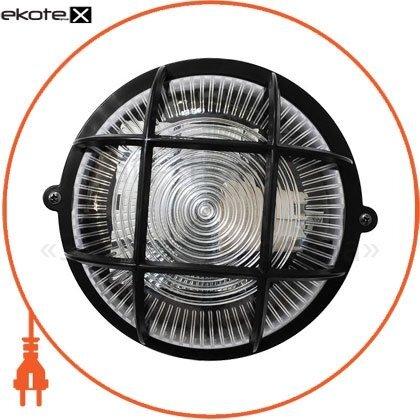 Ecostrum 71990 светильник нпп-65 круг чёрн прозр.с рис.,с решеткой пп-1052-10-1/6