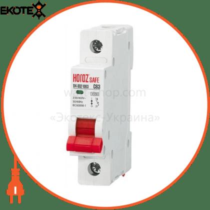 Horoz Electric 114-002-1063 модульный автоматический выключатель 1р 63а c 4,5ка 230v