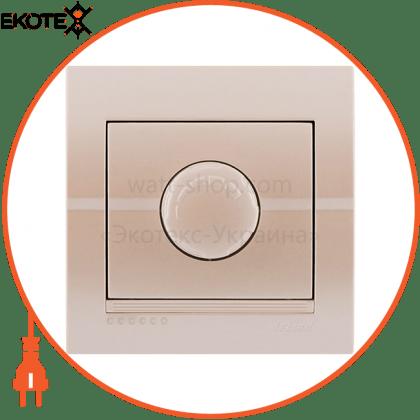 Lezard 702-3030-116 диммер 500 вт с фильтром 702-3030-116 цвет жемчужно-белый металлик 10ах 250v~