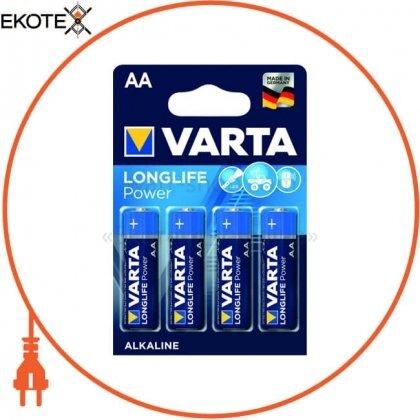 Varta 4906121414 батарейка varta longlife power aa bli 4 шт