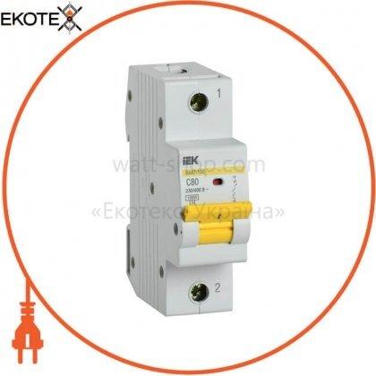 IEK MVA50-1-080-C автоматический выключатель ва47-150 1р 80а 15ка c iek