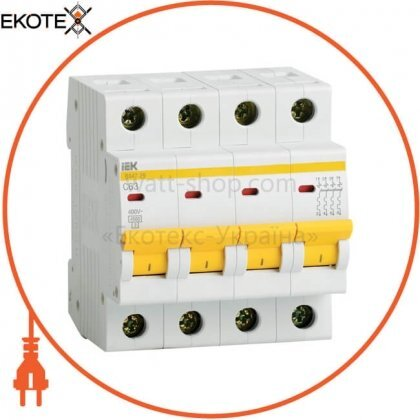 IEK MVA20-4-003-C автоматический выключатель ва47-29 4р 3а 4,5ка с iek
