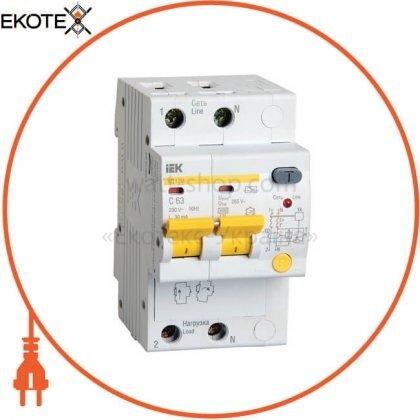 IEK MAD12-2-063-C-030 дифференциальный автоматический выключатель ад12м 2р с63 30ма iek