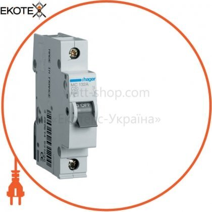Hager MC132A автоматический выключатель 1p 6ka c-32a 1m