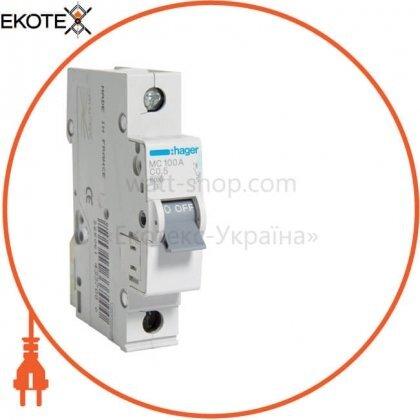 Hager MC100A автоматический выключатель 1p 6ka c-0.5 a 1m