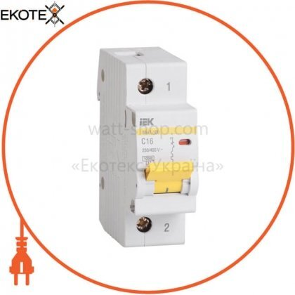 IEK MVA40-1-016-C автоматический выключатель ва47-100 1р 16а 10ка с iek