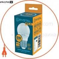 Лампа Crystal Gold светодиодная G45  6W PA E27 3K