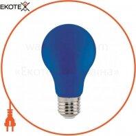 Лампа A60 SMD LED 3W E27 38Lm 175-250V синяя