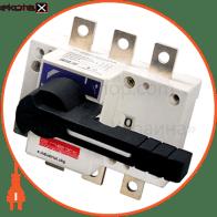 вимикач-роз'єднувач навантаження e.industrial.ukg.315.3, 3р, 315а, з фронтальною рукояткою управління выключатели-разъединители Enext i0590005