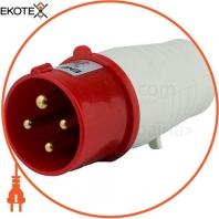 Вилка силовая переносная ENERGIO 034(3P+PE) 63A 380В IP44