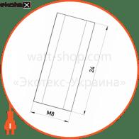 гайка подовжувач з різьбою м8, довжина 24 мм e.metiz.nut.6d.08.24