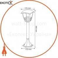 Horoz Electric 075-016-0005-010 светильник садово-парковый nar-5 е27