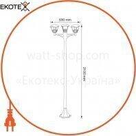 Horoz Electric 075-016-0007-010 светильник садово-парковый nar-7 е27