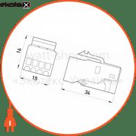 конектор телефонний (1x4)