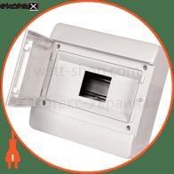 Корпус пластиковый, навесной (NT) 9-модульный, однорядный, IP 40, с непрозрачными дверцами