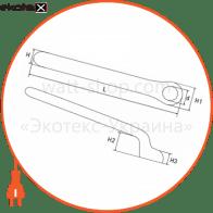 p0470014 Enext изолированный инструмент ключ ізольований накидний e.insulating.ring.spanner.40317, 17мм