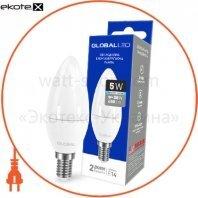Лампа светодиодная C37 CL-F 5W 4100K 220V E14 AP