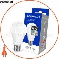 Лампа светодиодная A60 8W 4100K 220V E27 AL