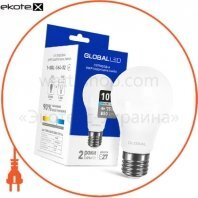 Лампа светодиодная A60 10W 4100K 220V E27 AL