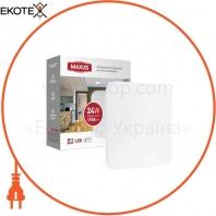 Светильник светодиодный настенно-потолочный Maxus Ceiling light 24W 4100K S (квадрат)