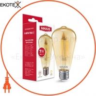 Лампа светодиоднаяST64 FM 7W 2700K 220V E27 Golden