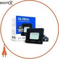 Прожектор світлодіодний GLOBAL 10W, 6000K