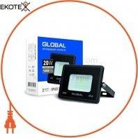 Прожектор світлодіодний GLOBAL 20W, 6000K