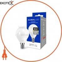 LED лампа GLOBAL G45 F 5W теплый свет E14 (1-GBL-143)
