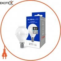 LED лампа GLOBAL G45 F 5W яркий свет E14 (1-GBL-144)