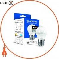 Светодиодная лампа Global G45 F 6W теплый свет E27
