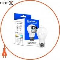 Светодиодная лампа Global A60 8W яркий свет E27