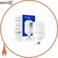 LED лампа (высокомощная) GLOBAL 40W 6500K E27 холодный свет (1-GHW-004)