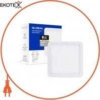 Точечный врезной LED-светильник GLOBAL SP adjustable 9W, 3000K (квадрат)