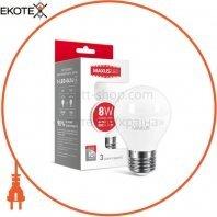 Лампа светодиодная G45 F 8W 4100K 220V E27