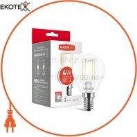 Лампа светодиодная G45 FM 4W 4100K 220V E14