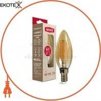 Лампа светодиодная C37 FM 4W 2200K 220V E14 Amber