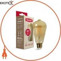 Лампа светодиодная ST64 FM 7W 2200K 220V E27 Amber