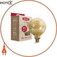Лампа светодиодная G125 FM 4W 2200K 220V E27 Vintage