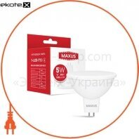 Лампа светодиодная MAXUS 1-LED-713 MR16 5W 3000K 220V GU5.3