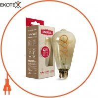 Лампа светодиодная ST64 FM 4W 2200K 220V E27 Vintage