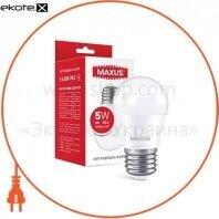 Лампа светодиодная MAXUS 1-LED-741 G45 5W 3000K 220V E27