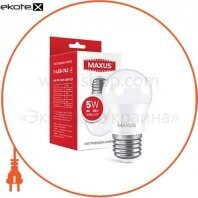 Лампа светодиодная MAXUS 1-LED-742 G45 5W 4100K 220V E27